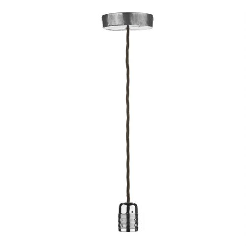 Huckleberry 1 Light Pendant Lead Grey HUC0139 (Hand made, 7-10 day Delivery)